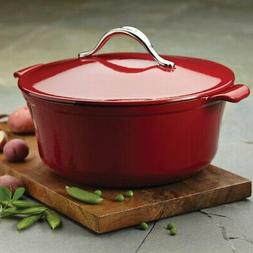 Anolon® Vesta Cast Iron Cookware 7-qt. Paprika Red Round