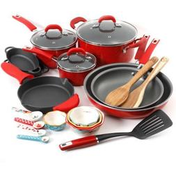 The Pioneer Woman Vintage Speckle 24-Piece Cookware Combo Se